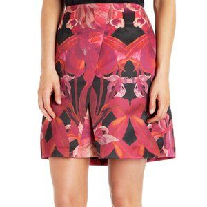 TED BAKER LONDON NEW Galwai Jungle Orchid Skirt